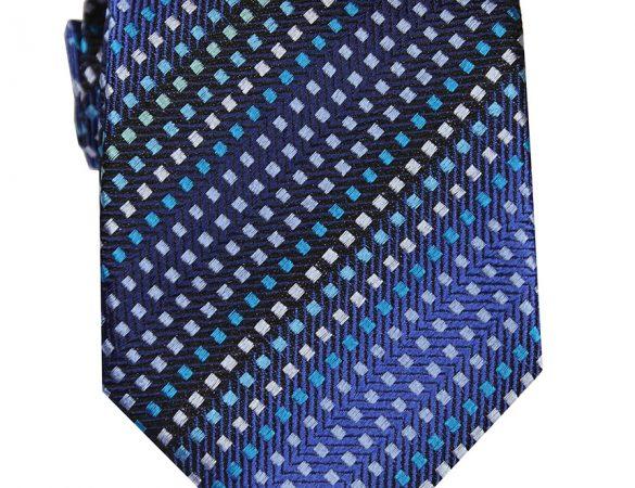 DECLIC 8-Bit Stripe Tie – Blue