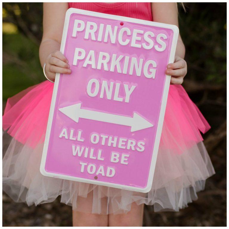 Giggleme Pink Princess Parking Sign