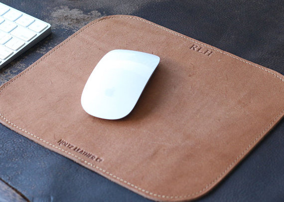 The Architect Personilsed Fine Leather Mouse Pad