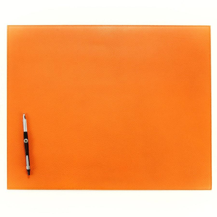 Hunt-Leather-Calfskin-Desk-Mat-Orange