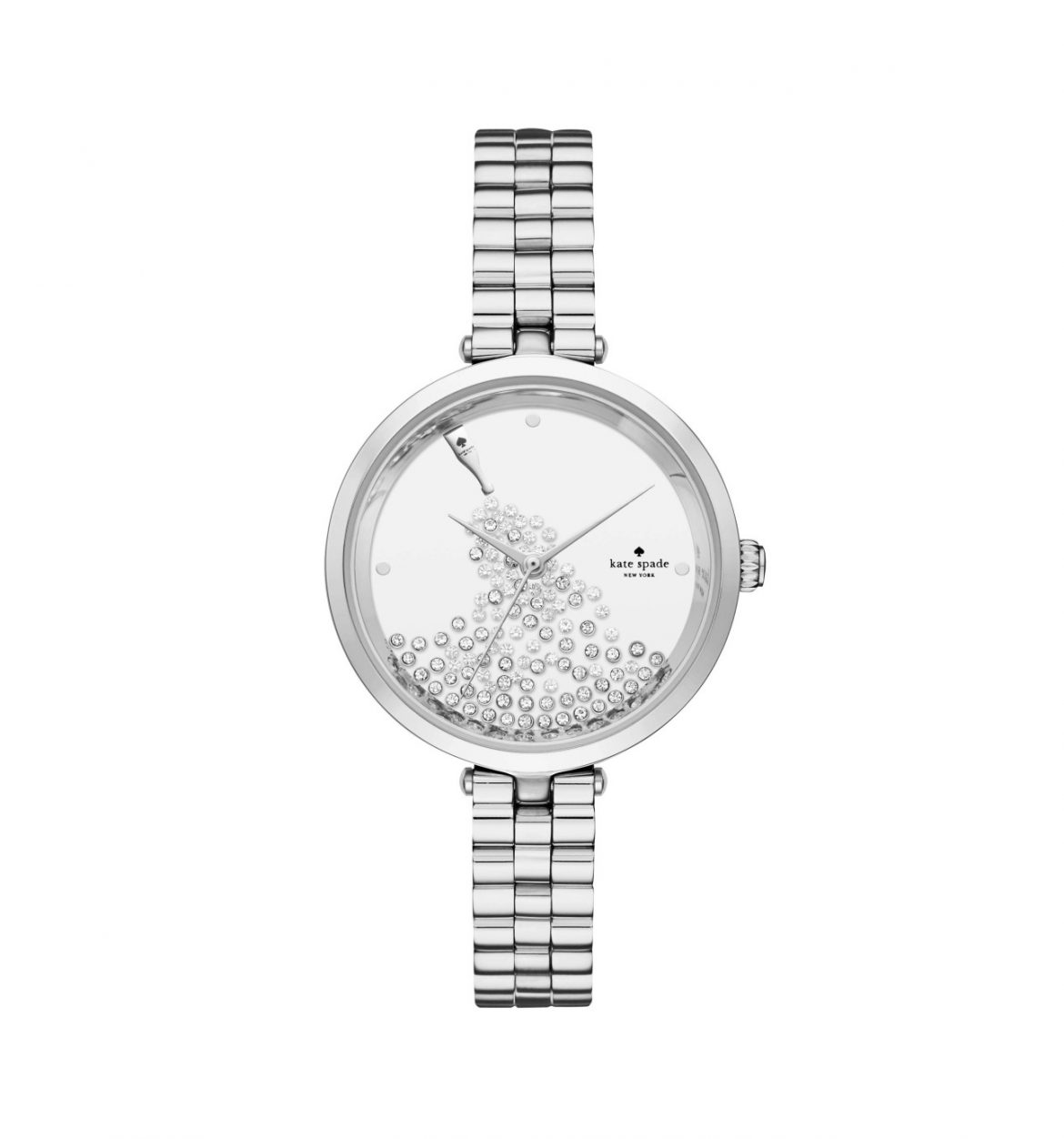 Kate Spade Holland Silver Stainless Steel Watch